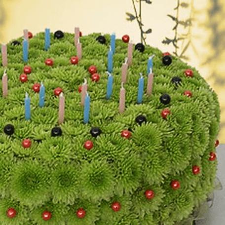 Produto: Bolo floral de Aniversário