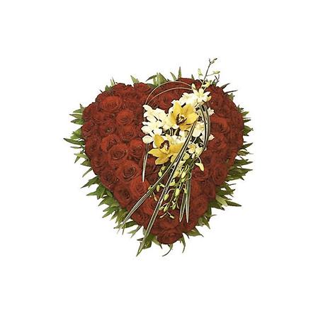 Produto: Coração Tradicional Rosas e Orquídeas (51)
